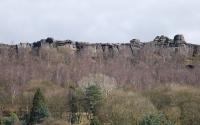 View of Curbar Edge from Hollowgate Farm