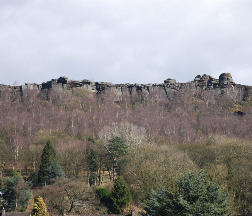 View of Curbar Edge from Hollowgate Farm